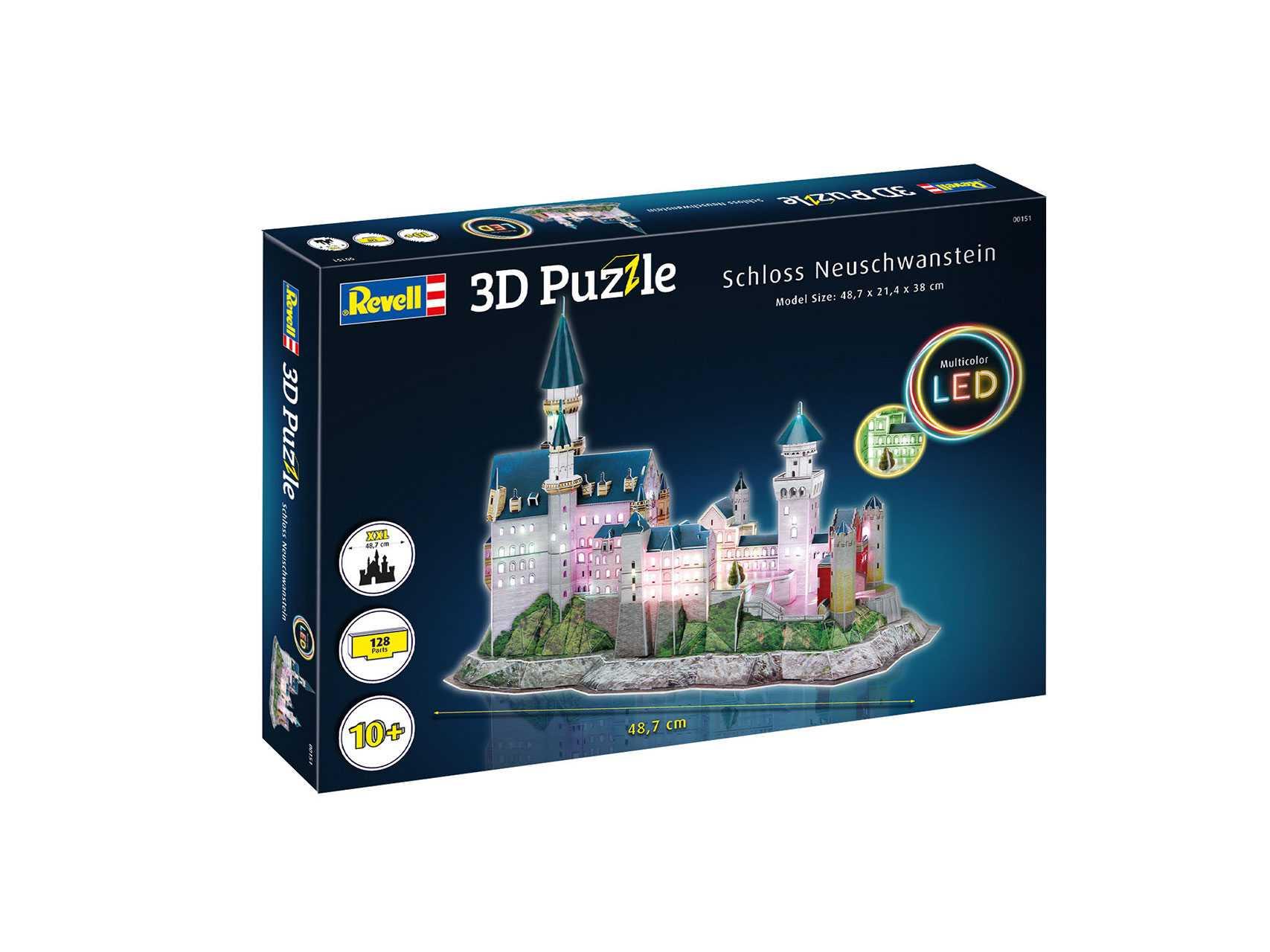 3D Puzzle Revell – Schloss Neuschwanstein (LED Edition)