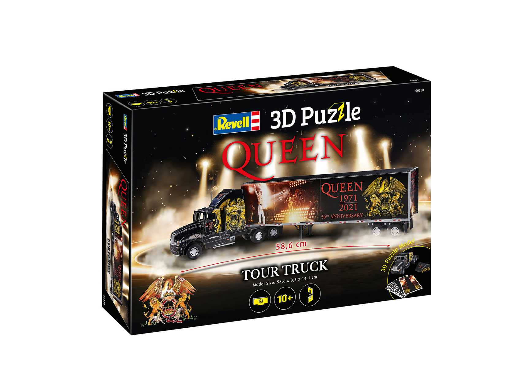 3D Puzzle Revell – QUEEN Tour Truck (50th Anniversary)