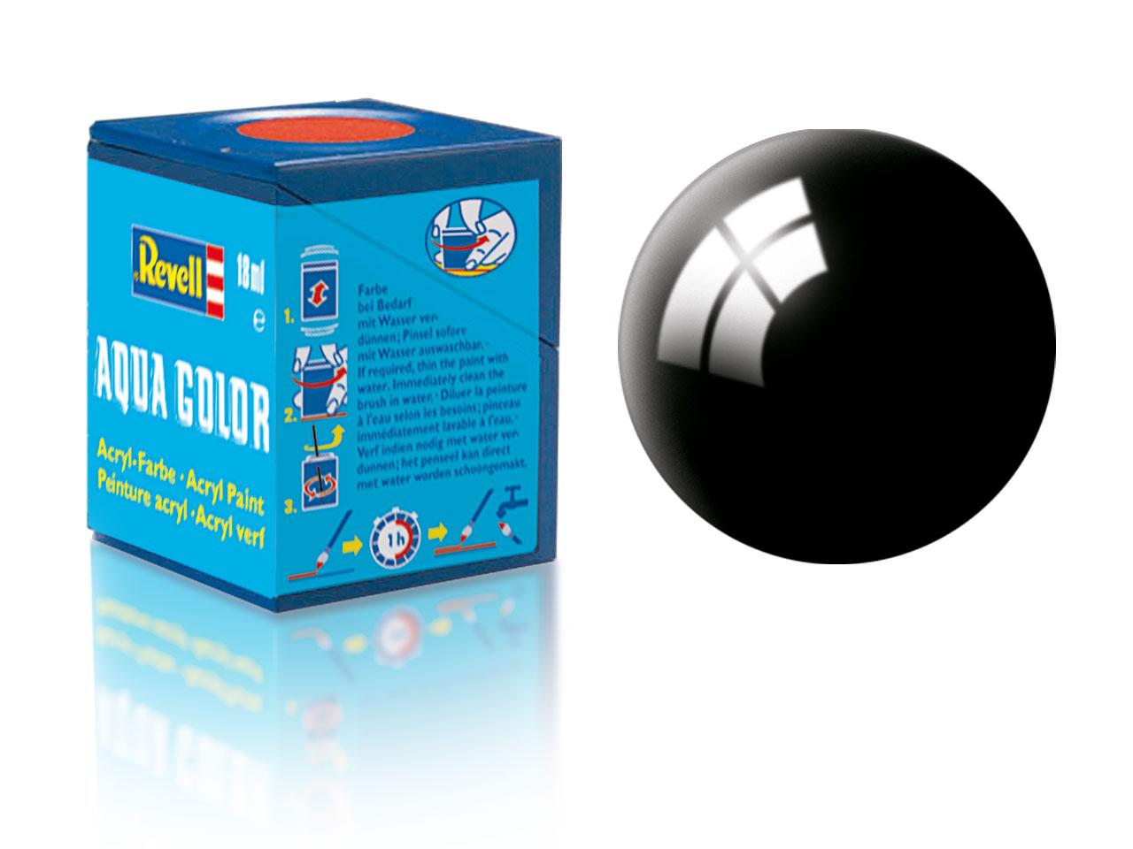 Náhled produktu - Barva Revell akrylová č. 07 – lesklá černá (18 ml)