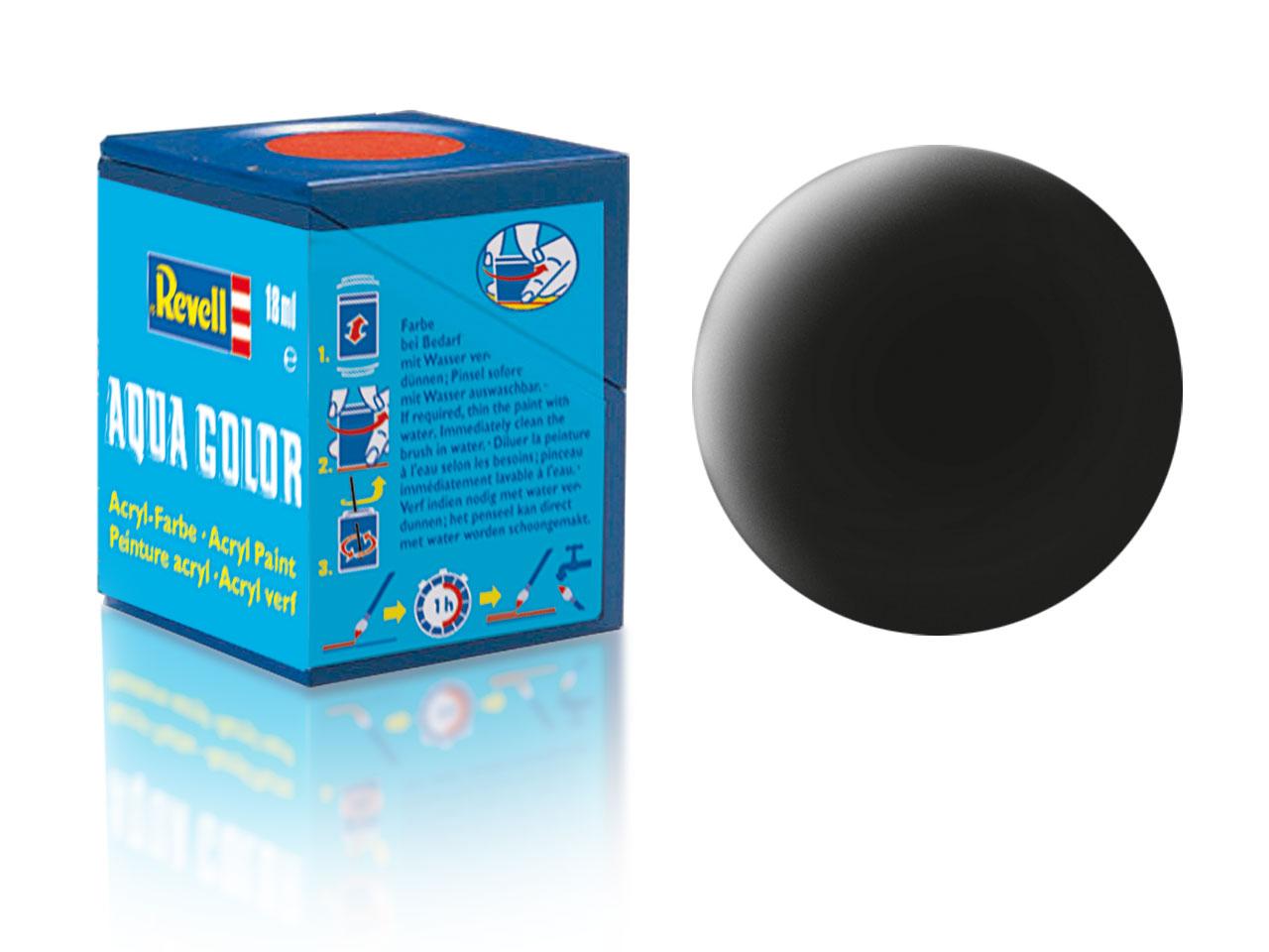 Farba Revell akrylová č. 08 – matná čierna (18 ml)