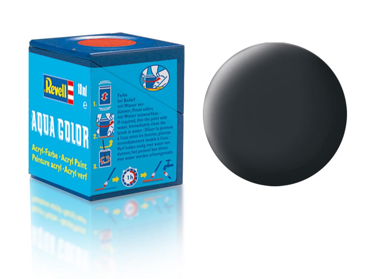 Náhled produktu - Barva Revell akrylová č. 09 – matná antracitová šedá (18 ml)