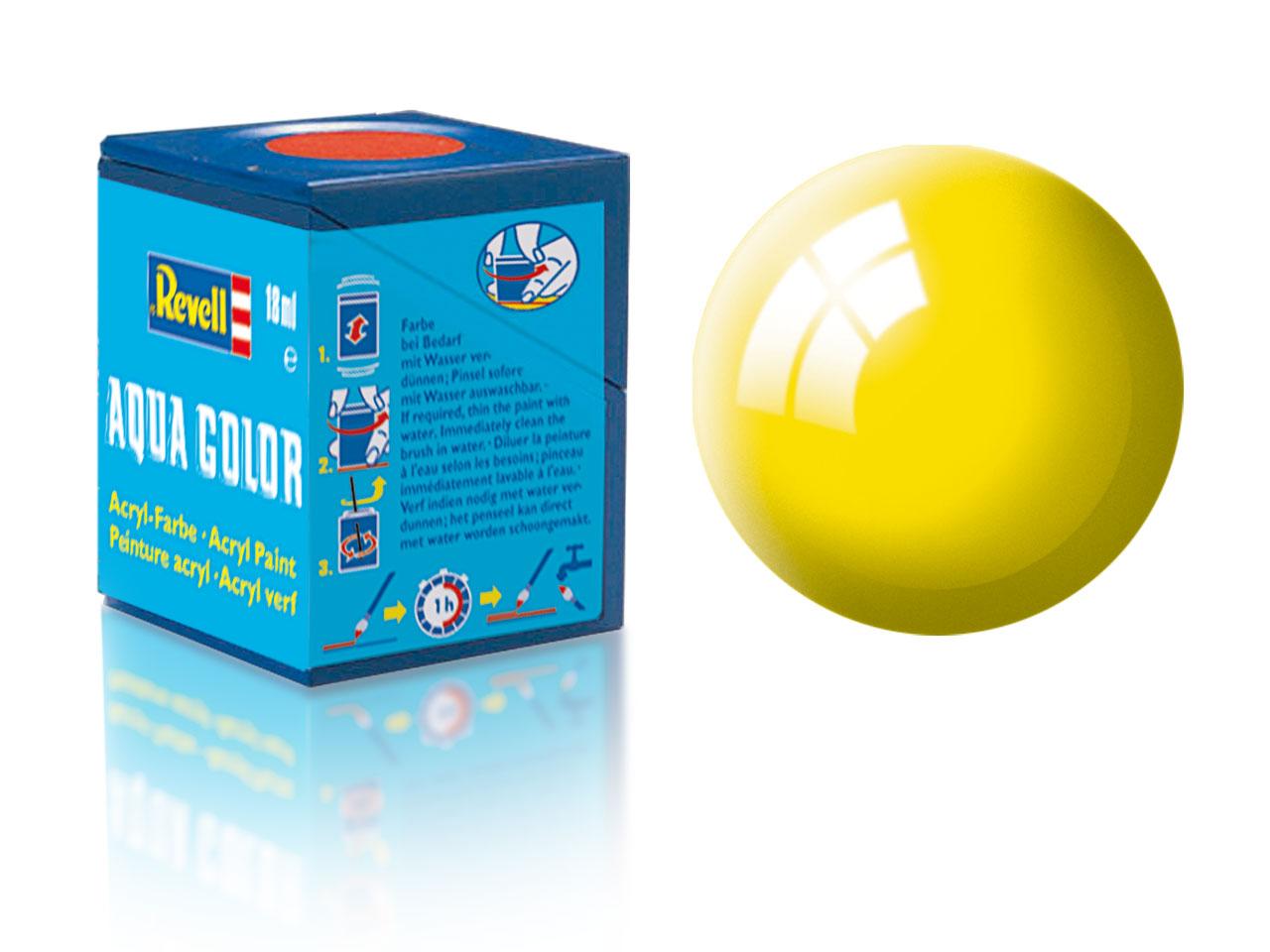 Barva Revell akrylová č. 12 – lesklá žlutá (18 ml)