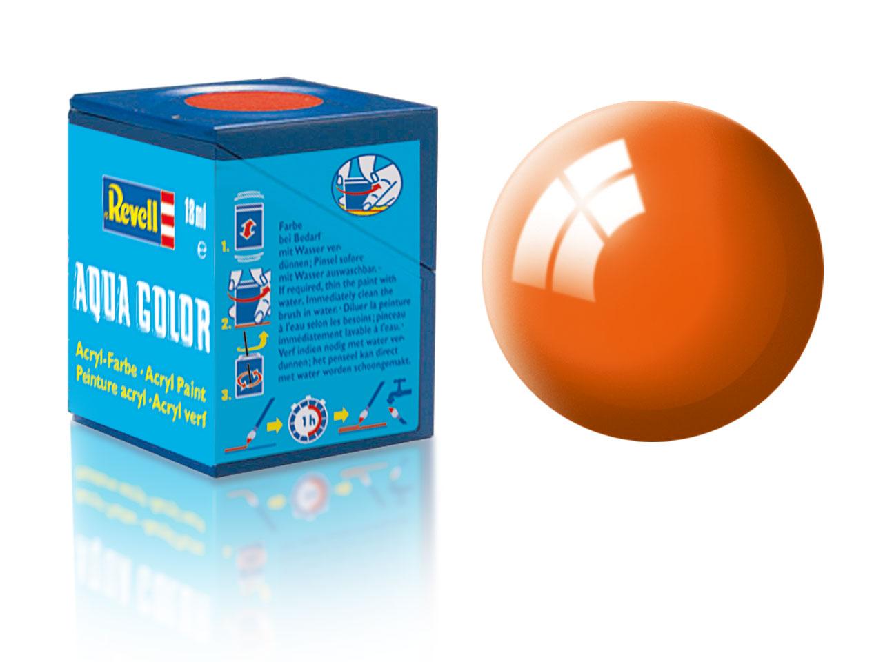 Barva Revell akrylová č. 30 – lesklá oranžová (18 ml)