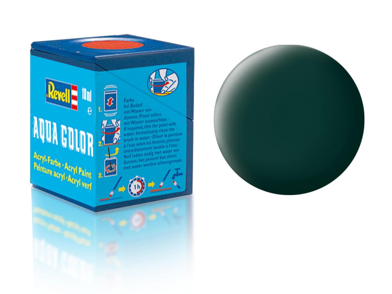 Barva Revell akrylová č. 40 – matná černozelená (18 ml)