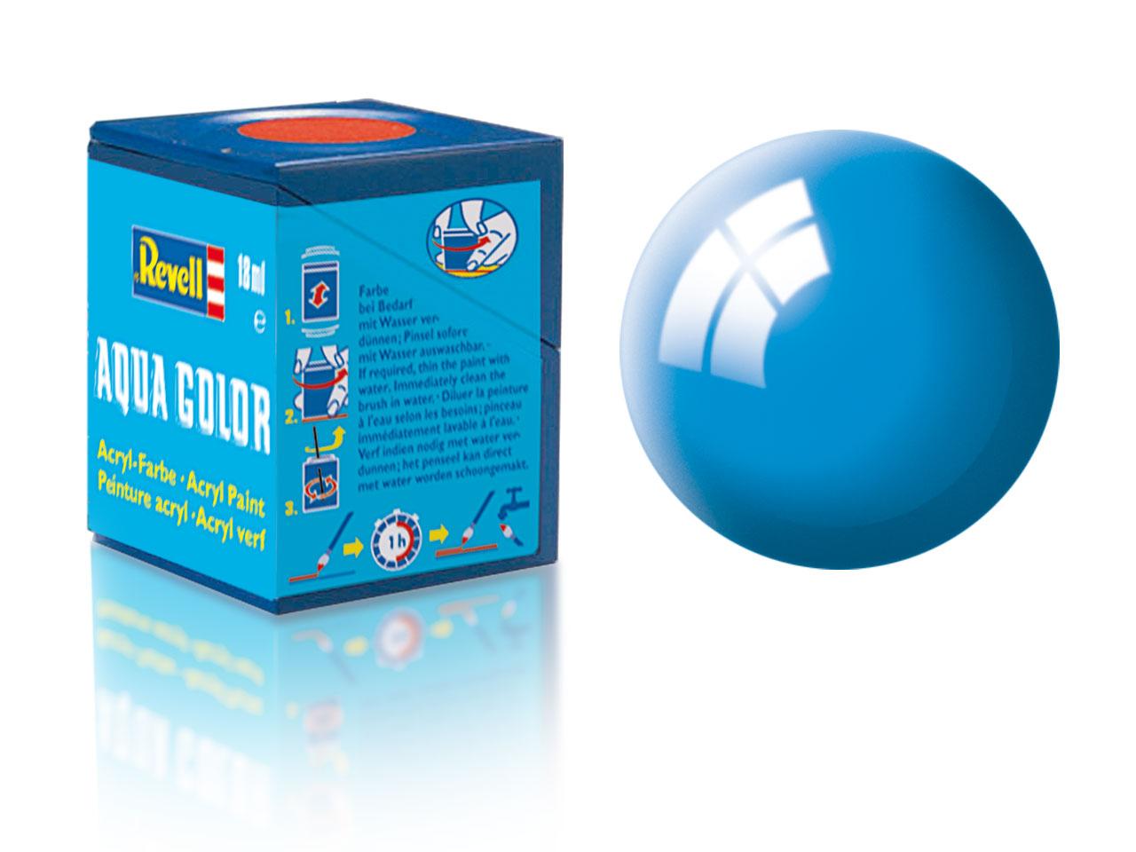 Barva Revell akrylová č. 50 – lesklá světle modrá (18 ml)