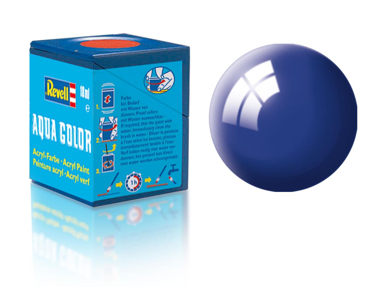 Farba Revell akrylová č. 51 – lesklá ultramarínová modrá (18 ml)