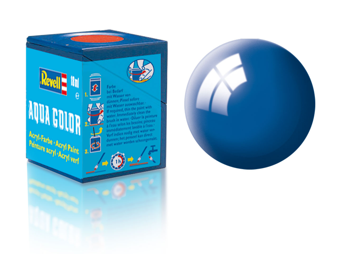 Barva Revell akrylová č. 52 – lesklá modrá (18 ml)