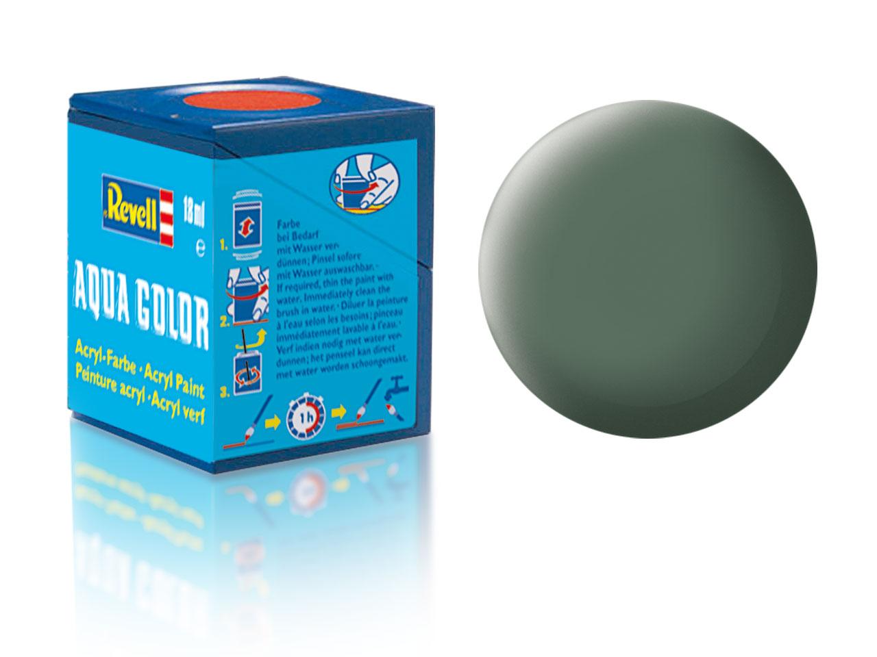 Barva Revell akrylová č. 67 – matná zelenavě šedá (18 ml)