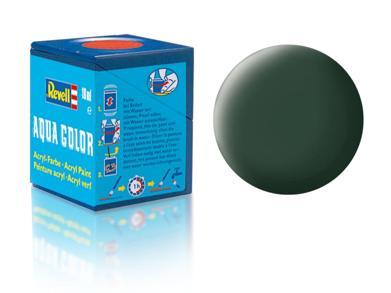 Barva Revell akrylová č. 68 – matná tmavě zelená (18 ml)