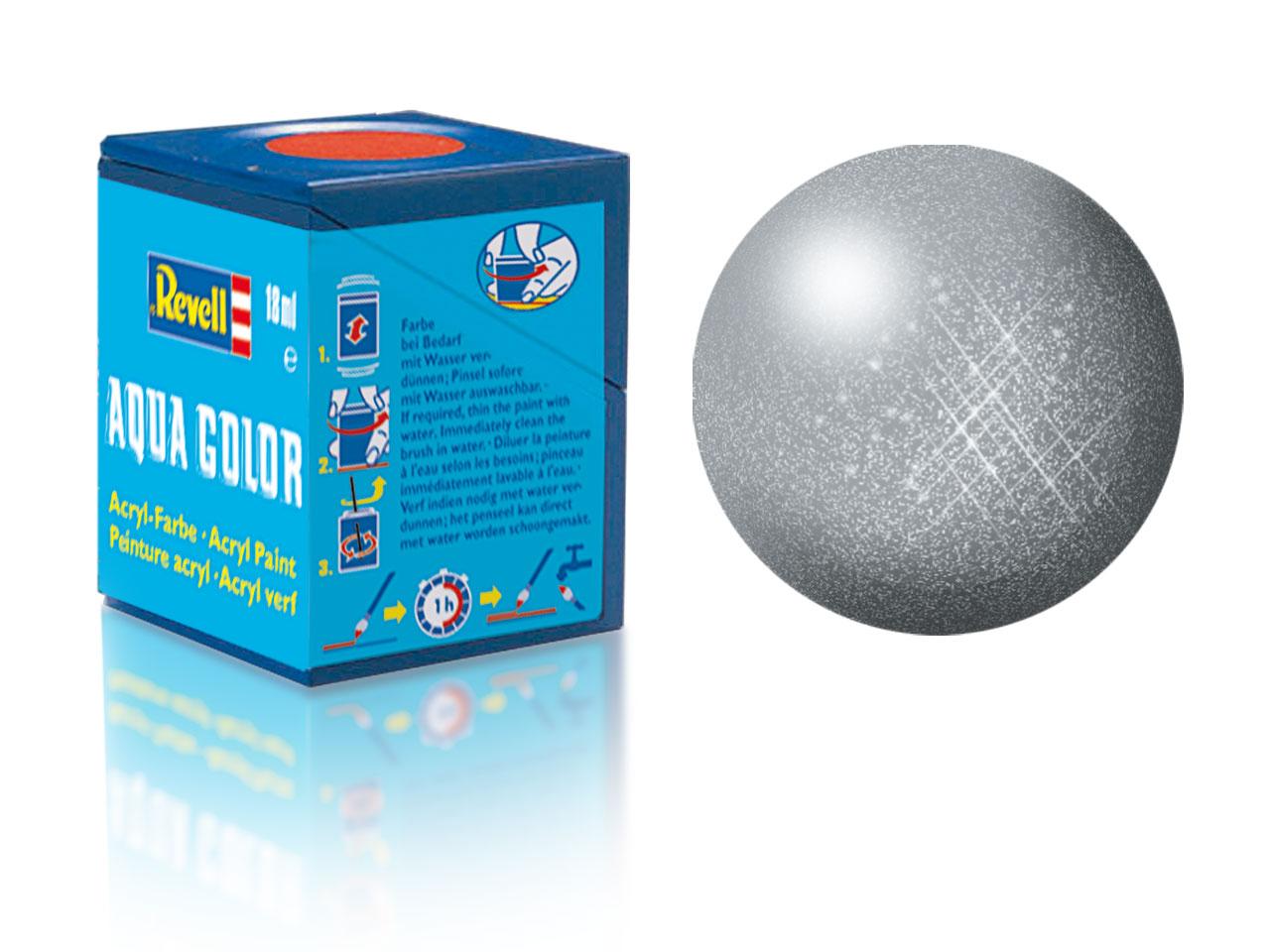 Náhled produktu - Barva Revell akrylová č. 91 – metalická ocelová (18 ml)