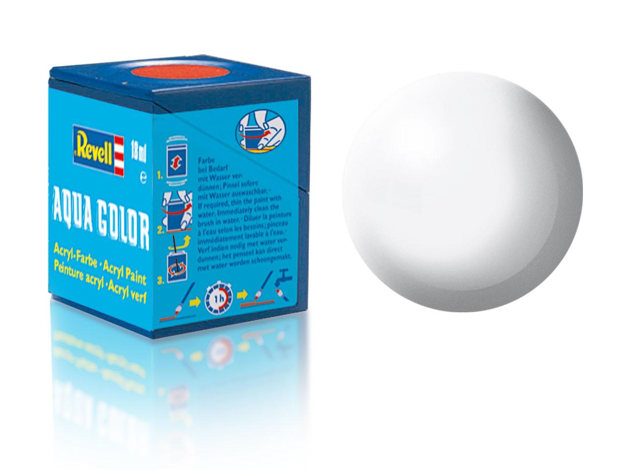 Barva Revell akrylová č. 301 – hedvábná bílá (18 ml)