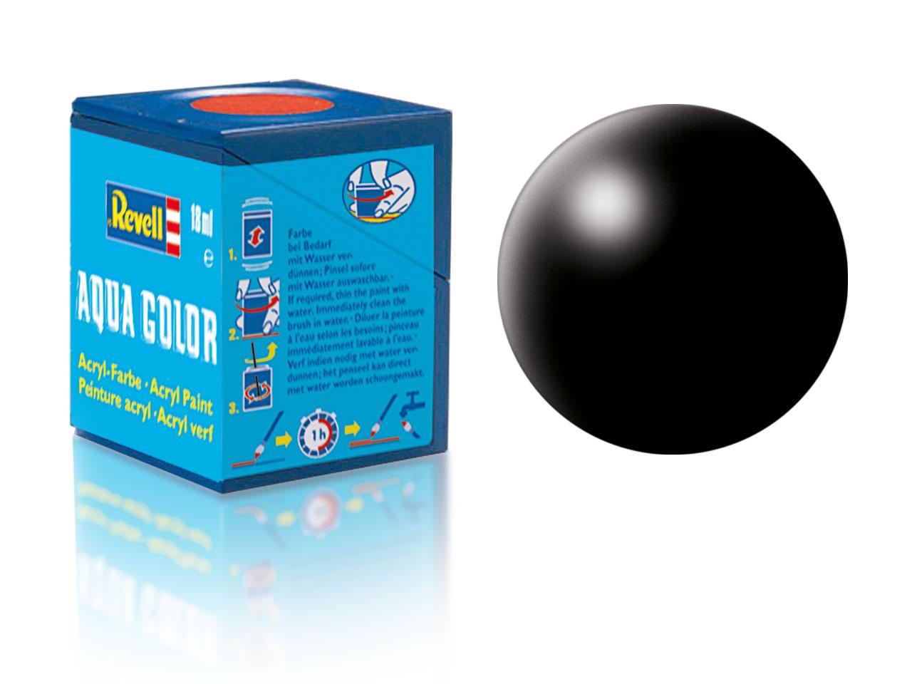 Barva Revell akrylová č. 302 – hedvábná černá (18 ml)