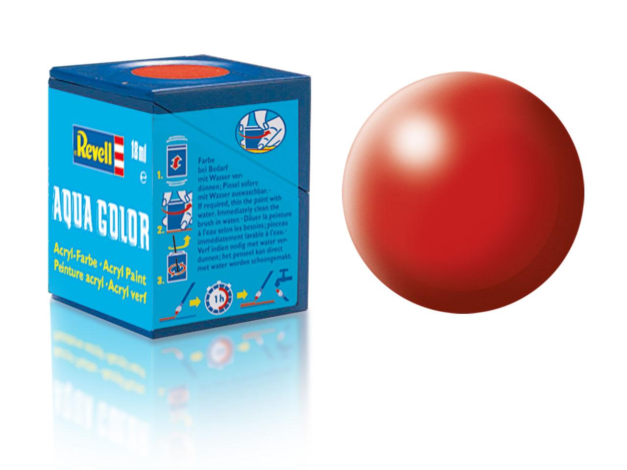 Farba Revell akrylová č. 330 – hodvábna ohnivo červená (18 ml)