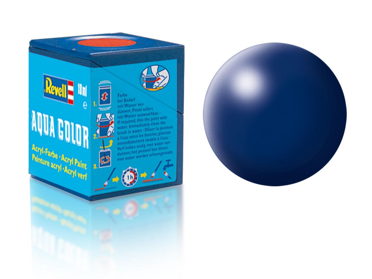 Barva Revell akrylová č. 350 – hedvábná tmavě modrá (18 ml)