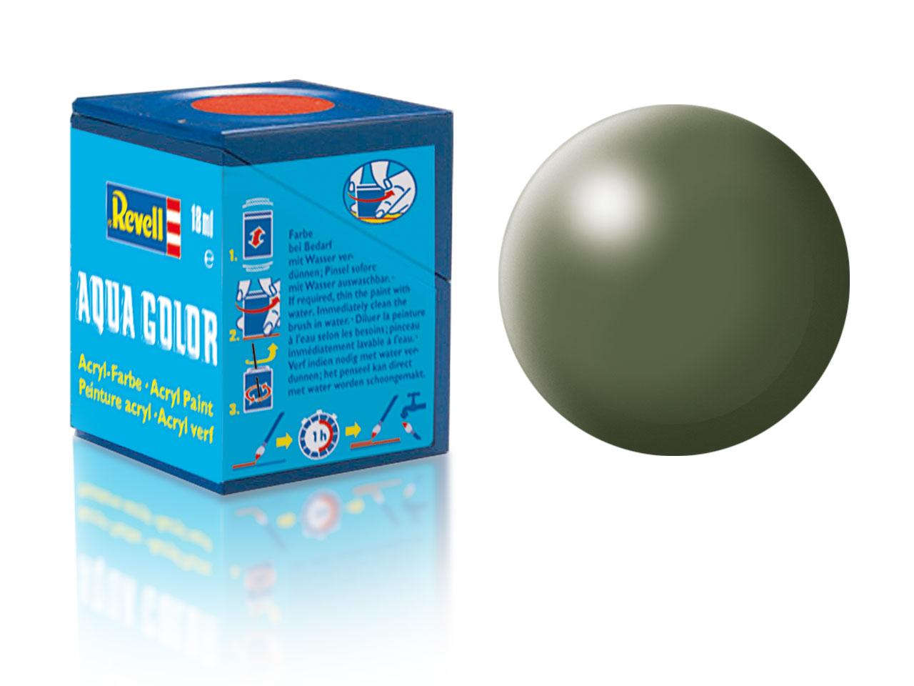 Barva Revell akrylová č. 361 – hedvábná olivově zelená (18 ml)