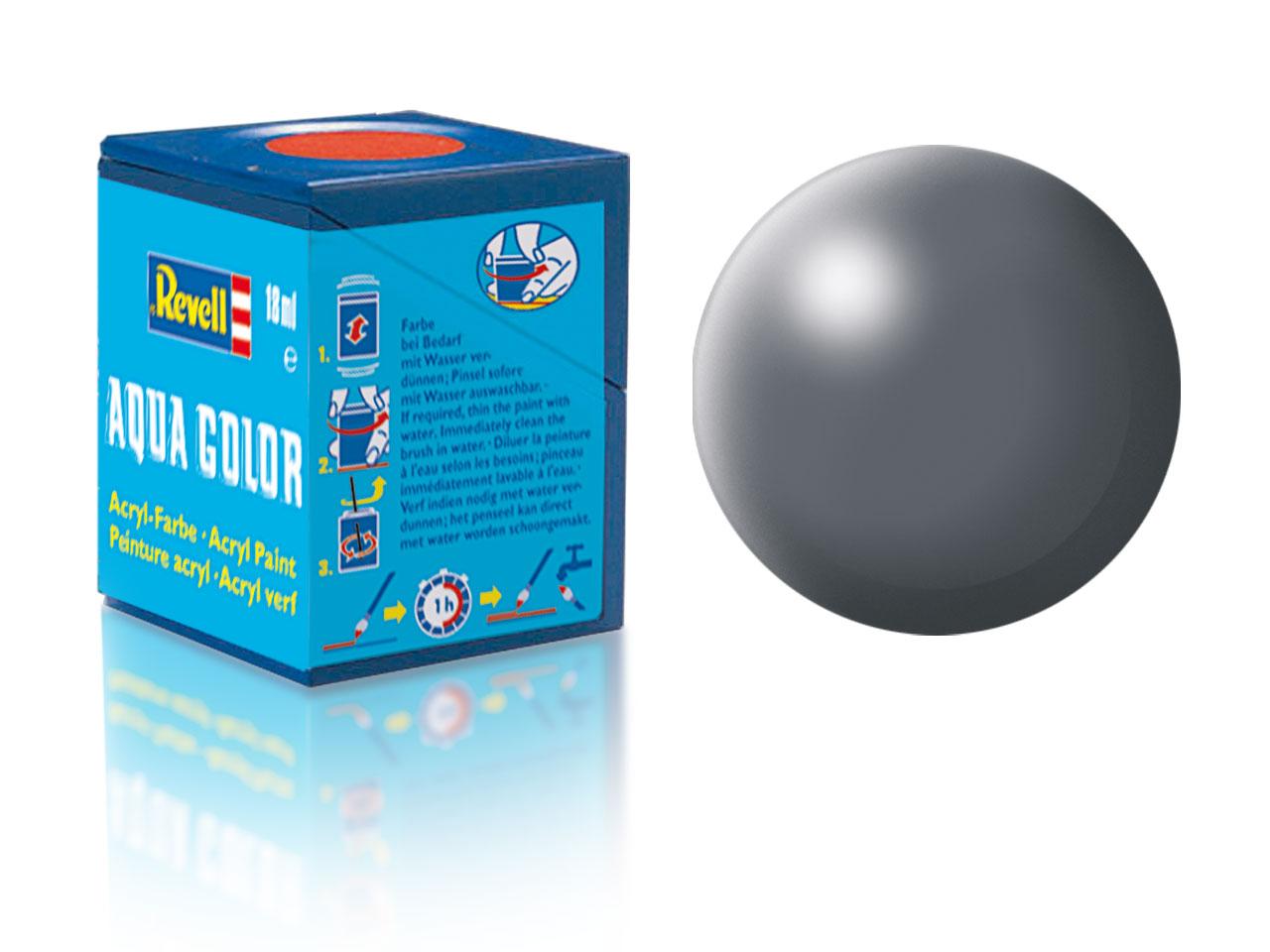 Barva Revell akrylová č. 378 – hedvábná tmavě šedá (18 ml)
