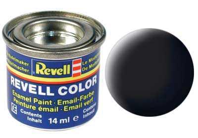 Farba Revell emailová č. 08 – matná čierna (14 ml)
