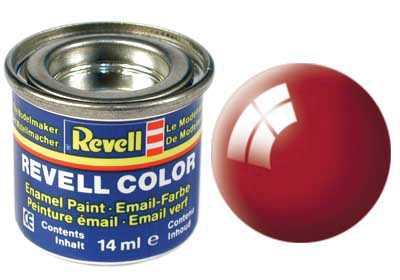 Farba Revell emailová č. 31 – lesklá ohnivo červená (14 ml)