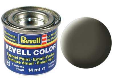Farba Revell emailová č. 46 – matná olivová NATO (14 ml)