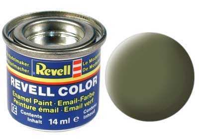 Barva Revell emailová č. 68 – matná tmavě zelená RAF (14 ml)