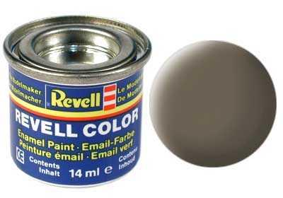 Farba Revell emailová č. 86 – matná olivovo hnedá (14 ml)