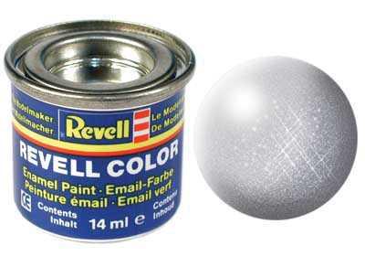 Barva Revell emailová č. 90 – metalická stříbrná (14 ml)