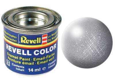 Farba Revell emailová č. 91 – metalická oceľová (14 ml)