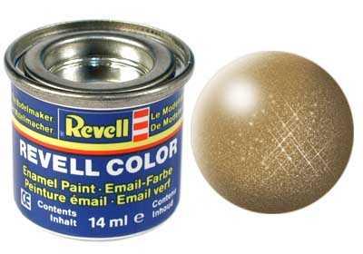 Barva Revell emailová č. 92 – metalická mosazná (14 ml)