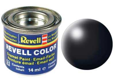 Barva Revell emailová č. 302 – polomatná černá (14 ml)
