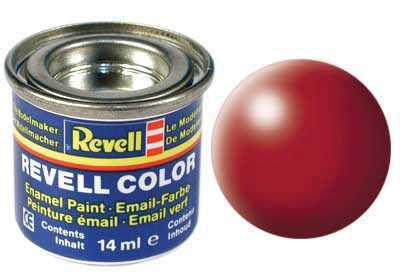 Farba Revell emailová č. 330 – hodvábna ohnivo červená (14 ml)