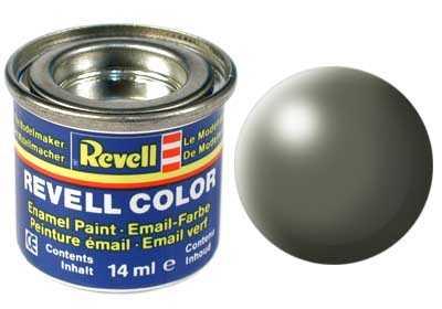 Barva Revell emailová č. 362 – polomatná šedavě zelená (14 ml)