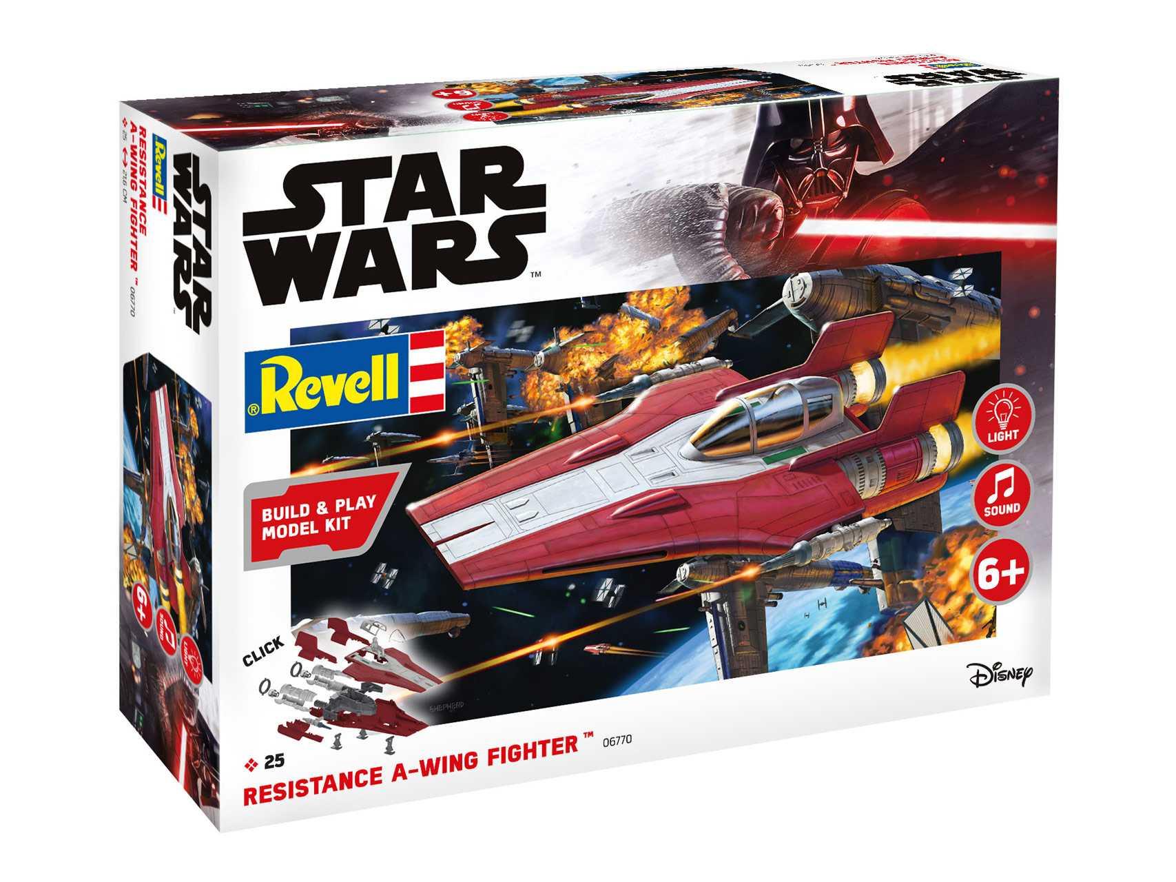 1:44 Resistance A-wing Fighter (Red) – světelné a zvukové efekty (Build & Play)