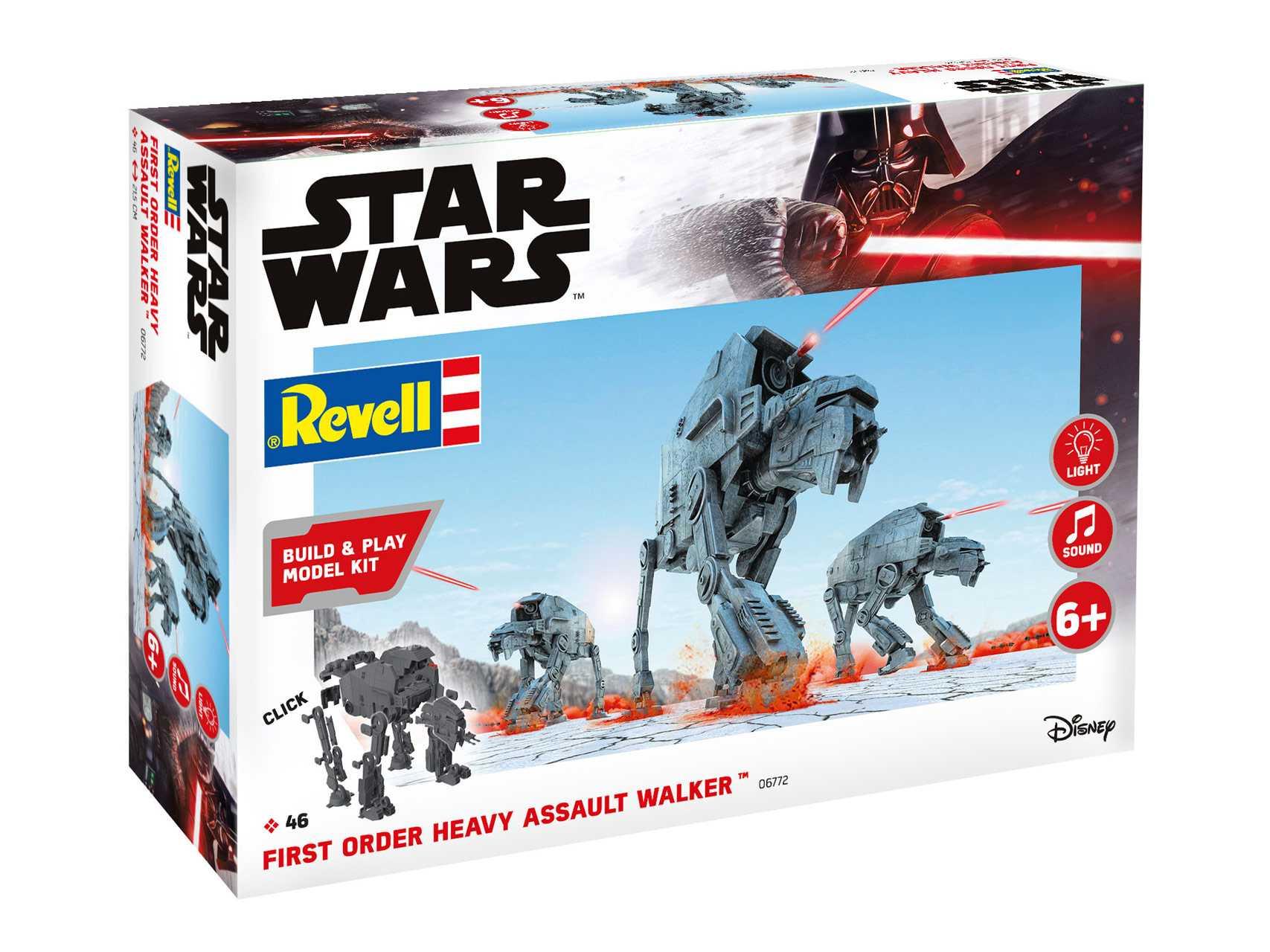 1:164 First Order Heavy Assault Walker – světelné a zvukové efekty (Build & Play)
