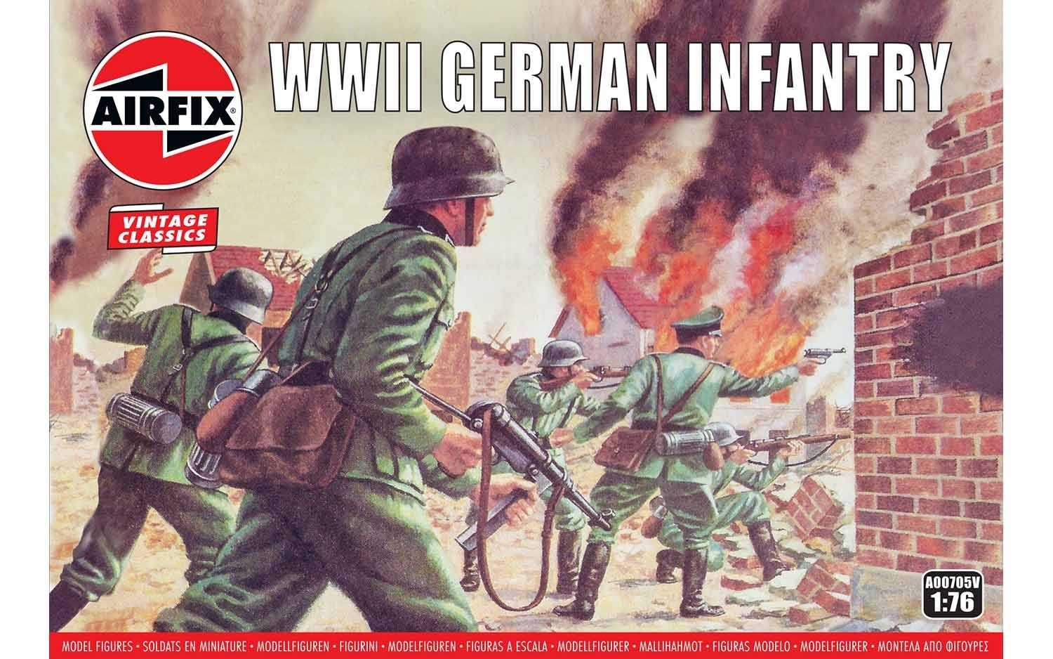 1:76 WWII German Infantry (Classic Kit VINTAGE Military)