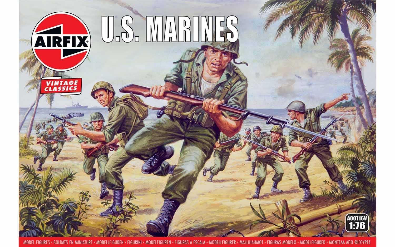 1:76 WWII U.S. Marines (Classic Kit VINTAGE)