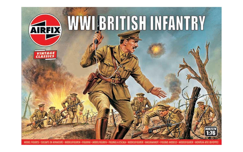 1/76 Plastikový model - VINTAGE figurky A00727V - WW1 British Infantry