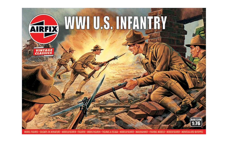 1/76 Plastikový model - VINTAGE figurky A00729V - WW1 U.S Infantry