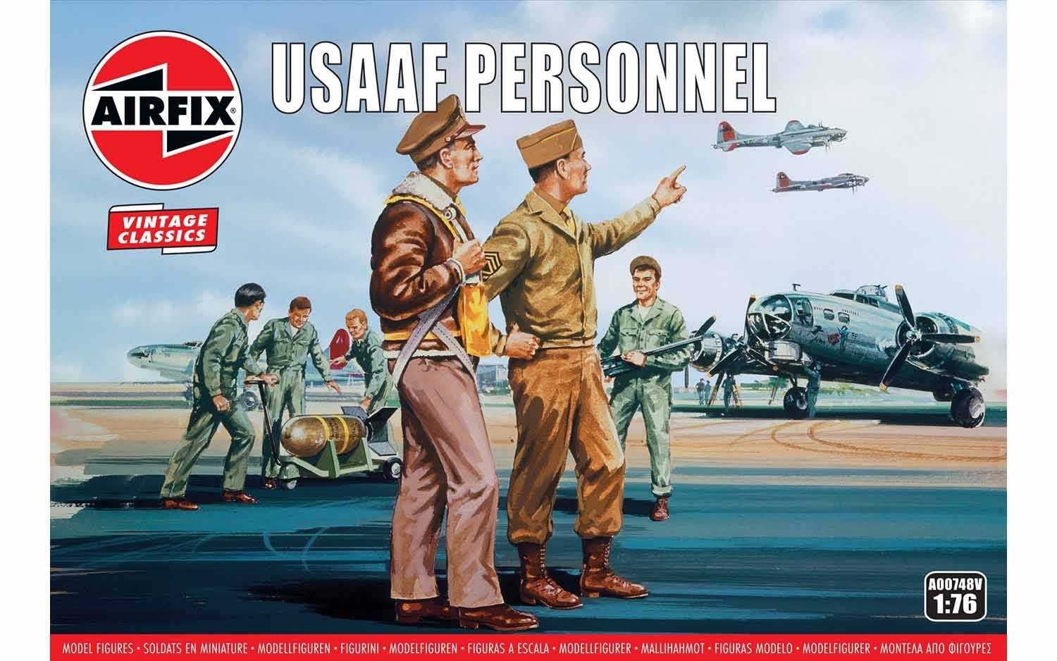 1:76 USAAF Personnel (Classic Kit VINTAGE Military)