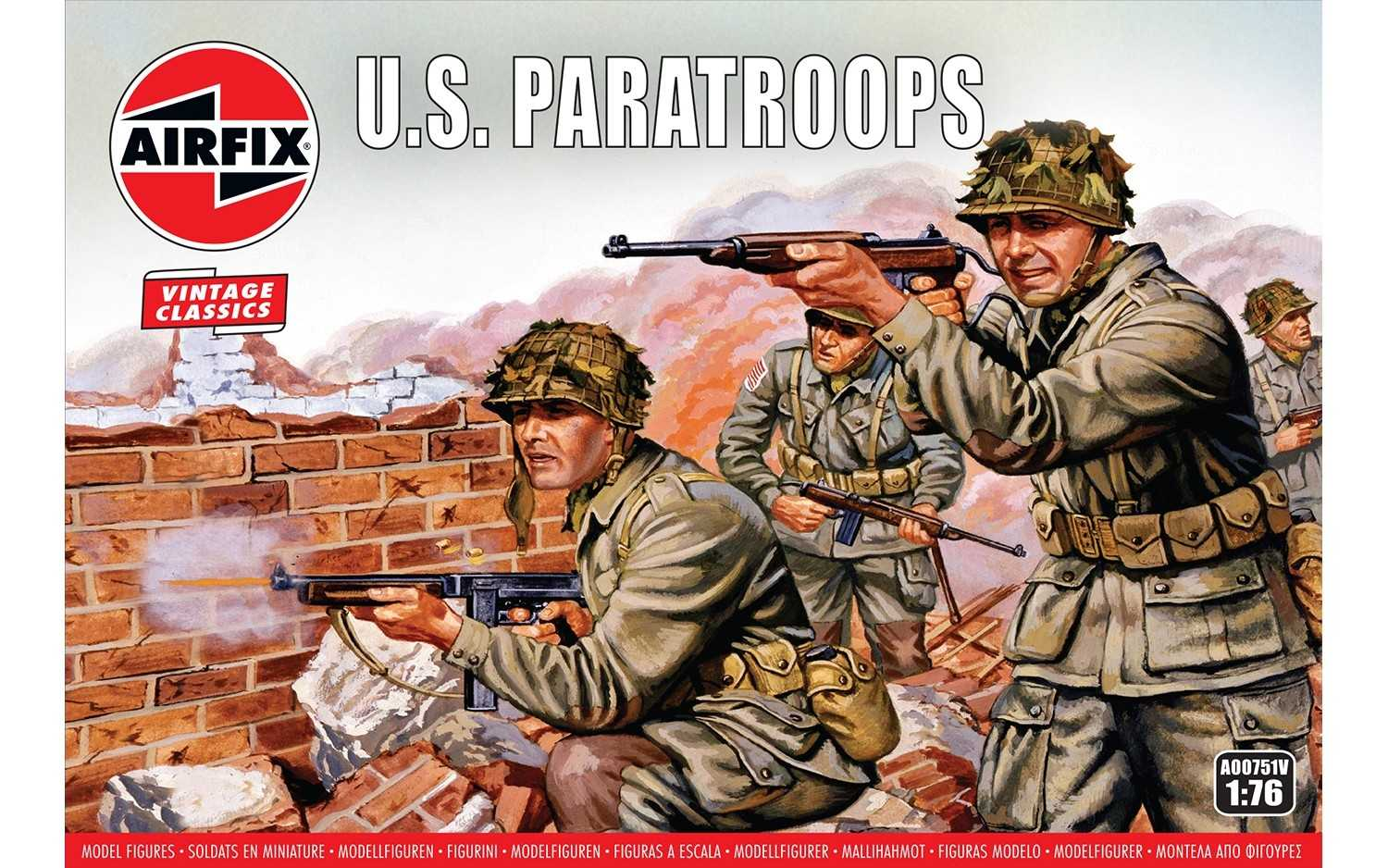 1:76 U.S. Paratroops (Classic Kit VINTAGE Military)
