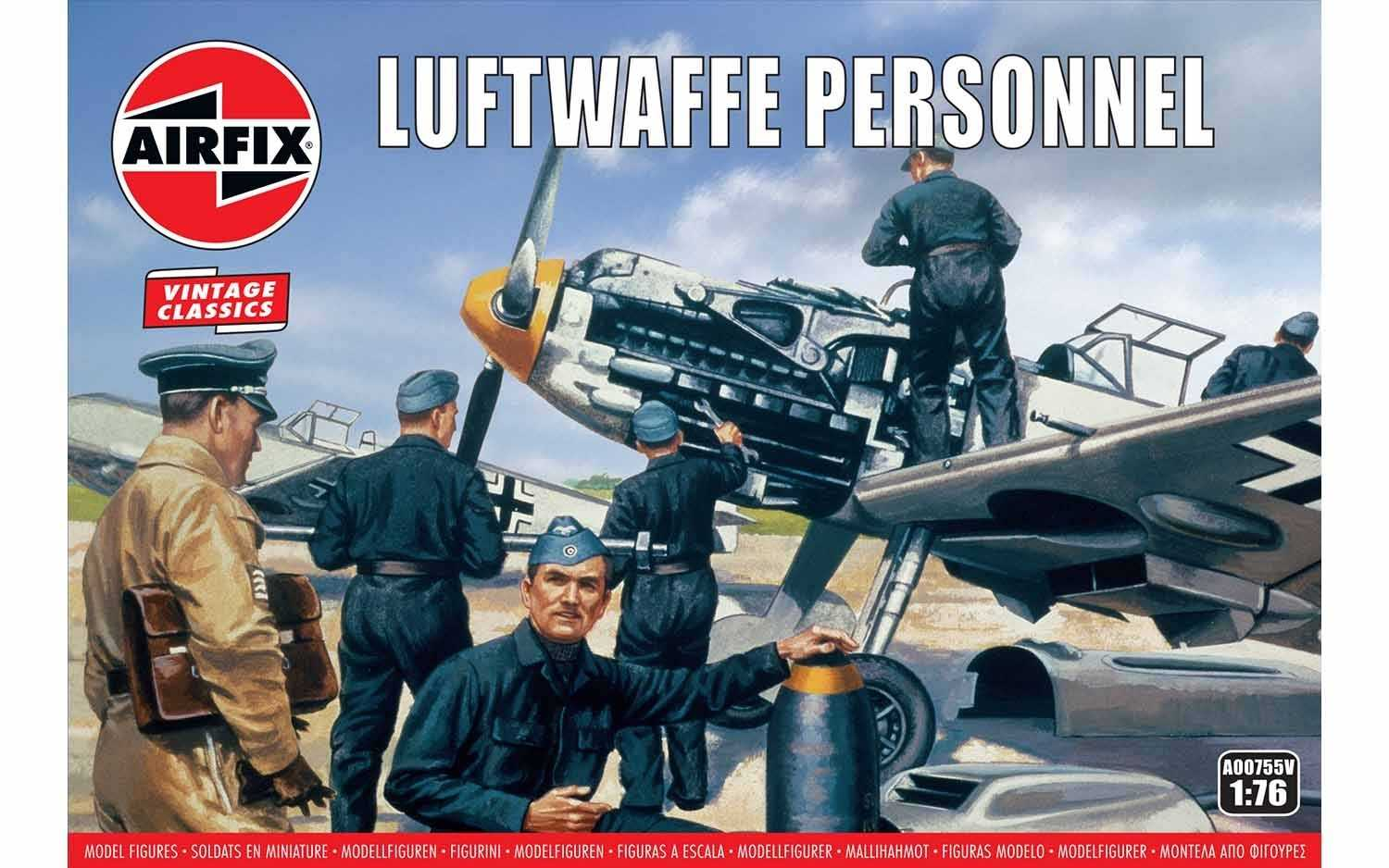 1:76 Luftwaffe Personnel (Classic Kit VINTAGE Military)