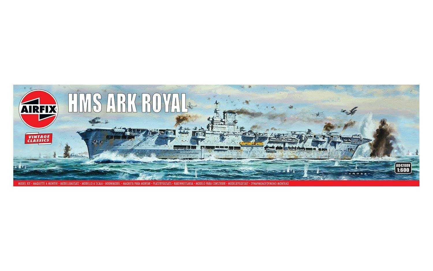 1:600 H.M.S. Ark Royal (Classic Kit VINTAGE Military)