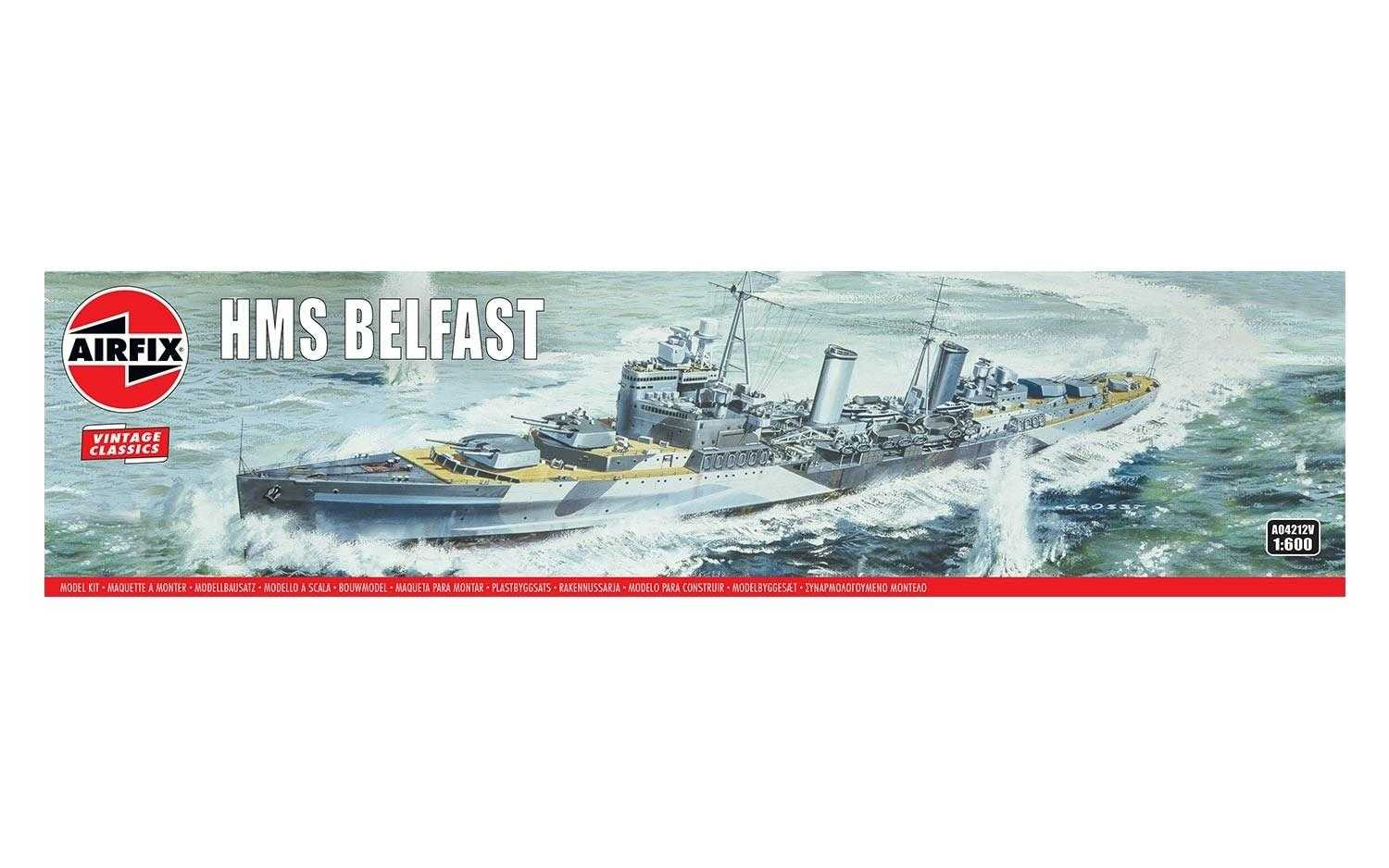 1:600 H.M.S. Belfast (Classic Kit VINTAGE Military)