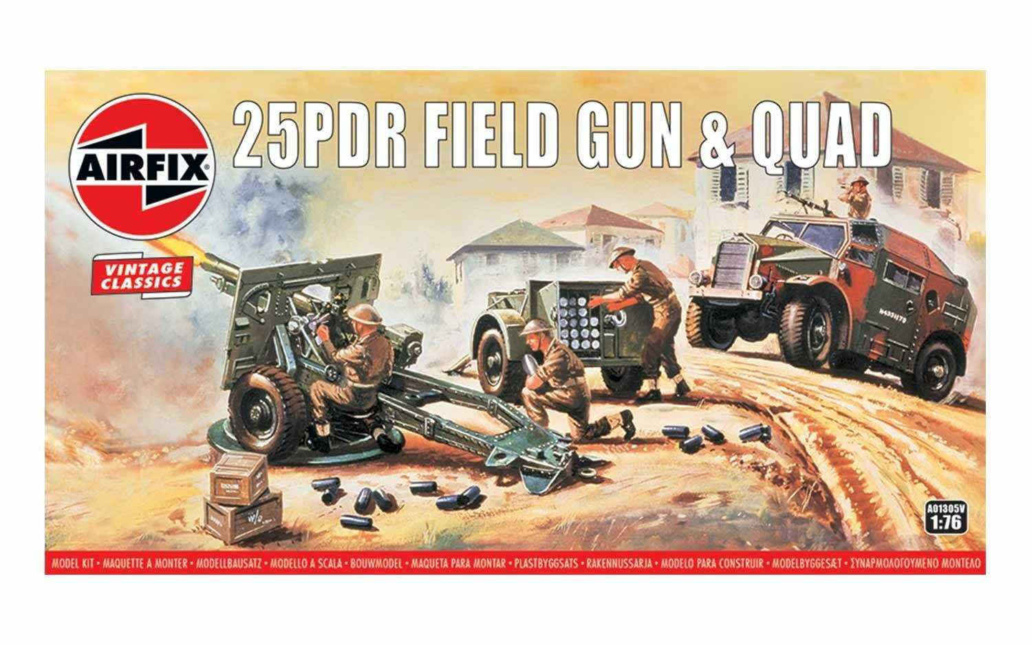 1:76 25pdr Field Gun & Quad (Classic Kit VINTAGE Military)