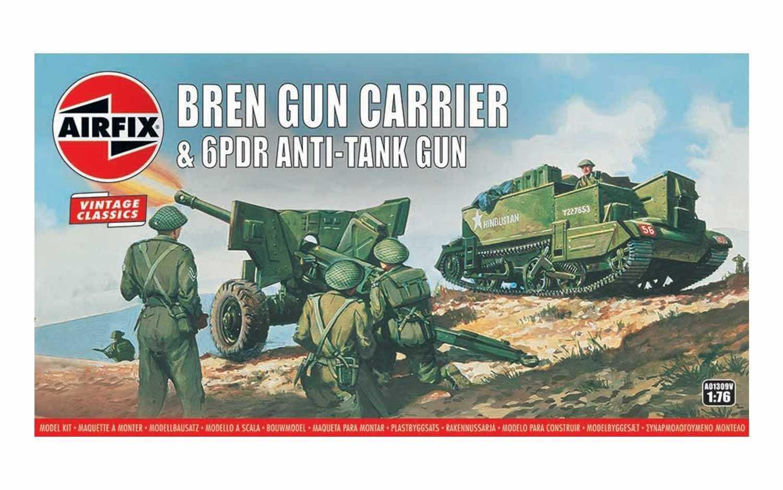 Náhled produktu - 1:76 Bren Gun Carrier & 6pdr Anti-Tank Gun (Classic Kit VINTAGE Military)