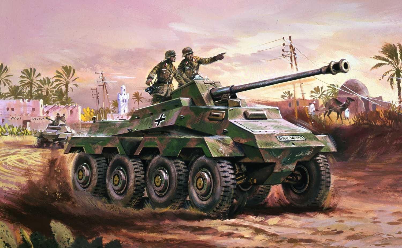 1:76 Sd.Kfz.234 Armoured Car (Classic Kit VINTAGE Military)