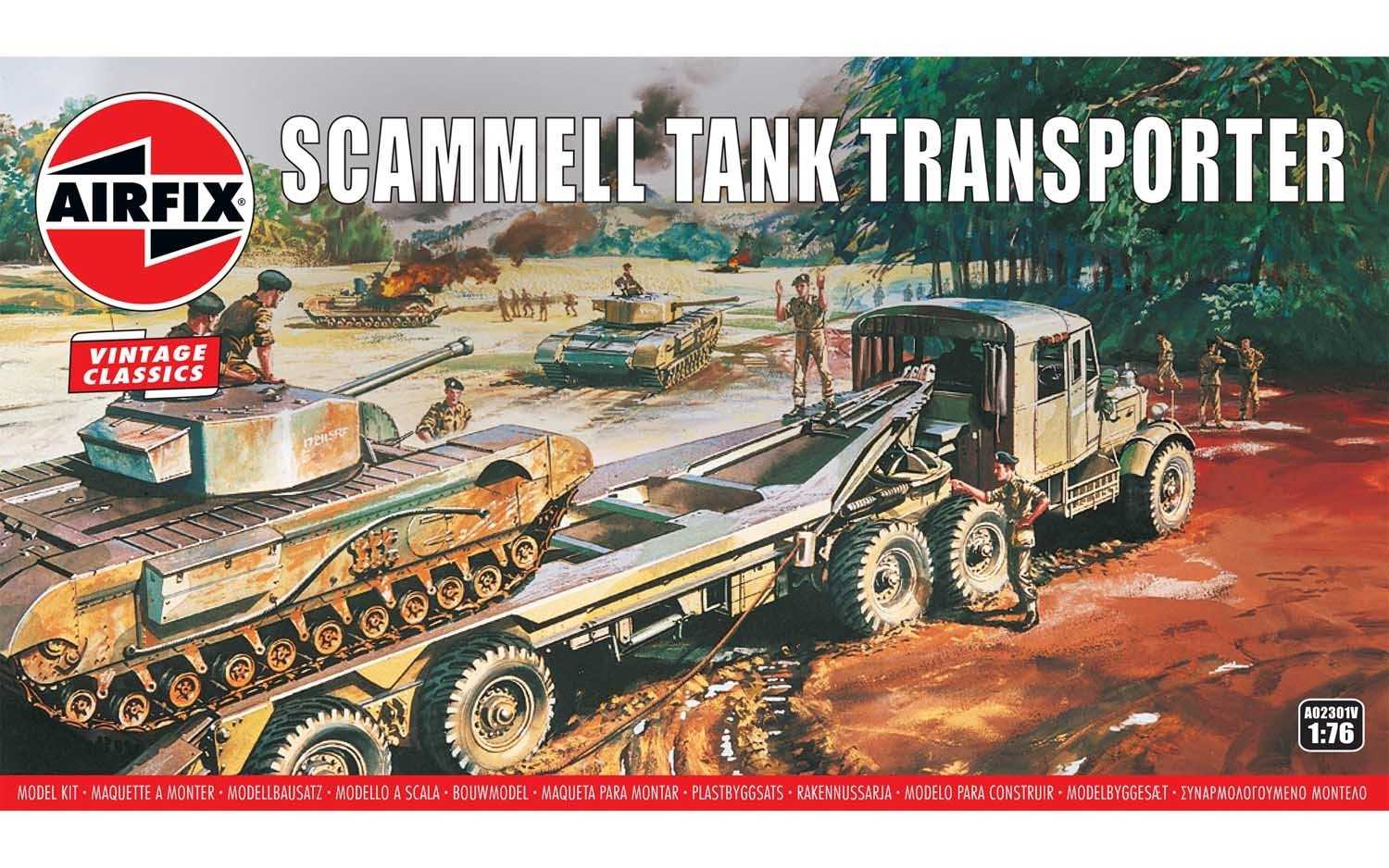 1:76 Scammell Tank Transporter (Classic Kit VINTAGE Military)