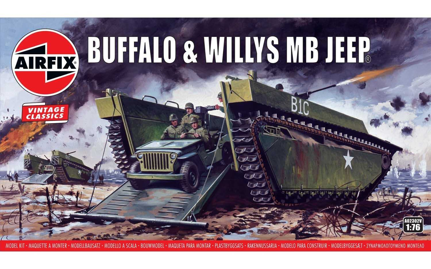 1:76 Buffalo Willys MB Jeep (Classic Kit VINTAGE)