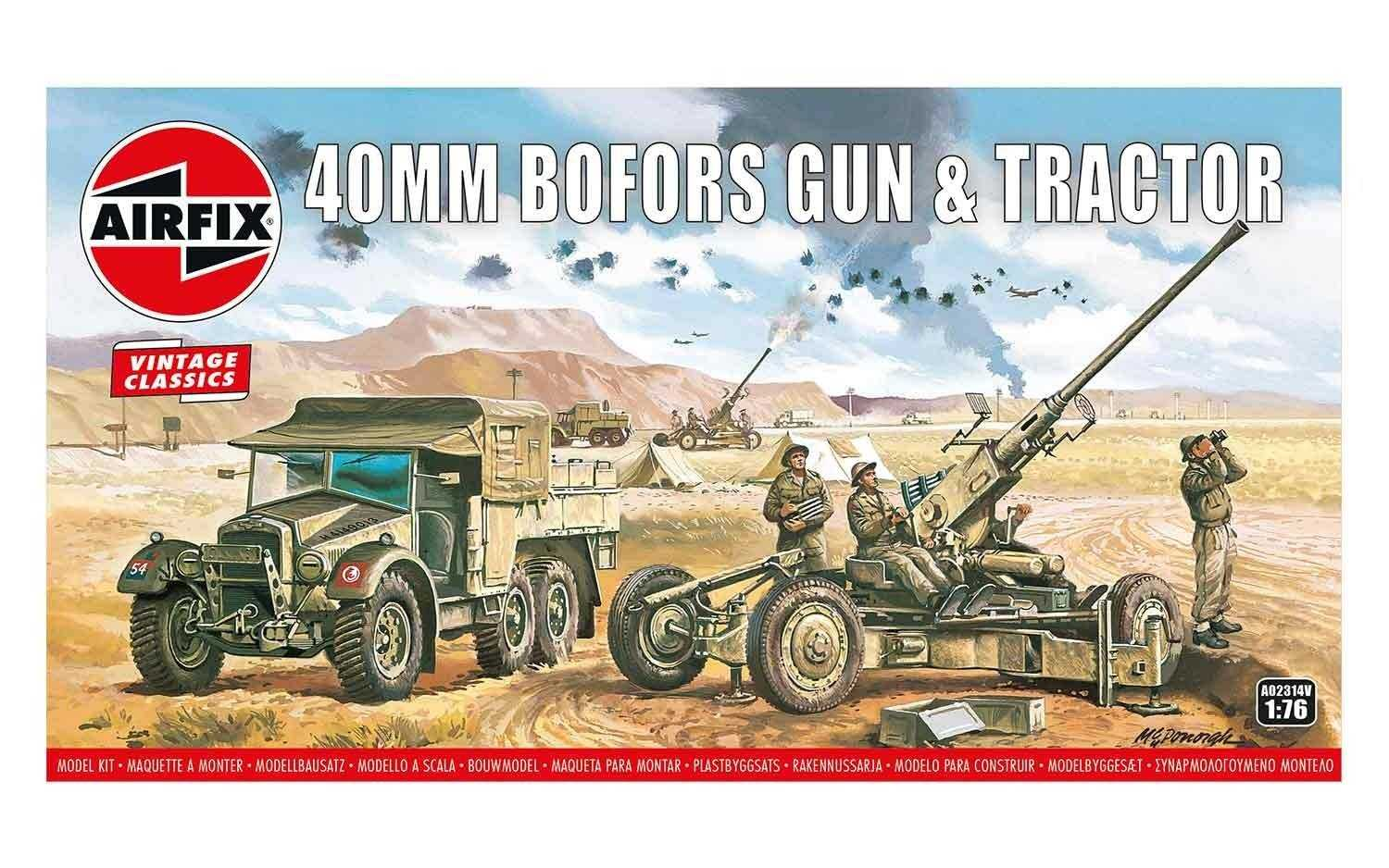 1:76 Bofors 40mm Gun & Tractor (Classic Kit VINTAGE Military)