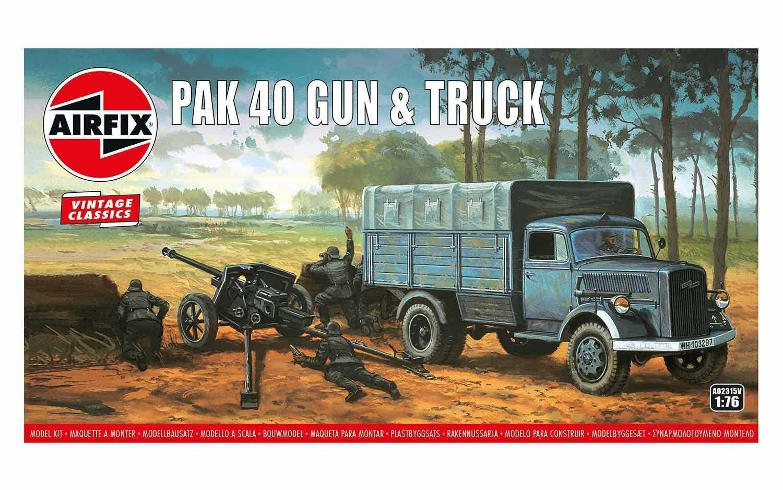 1:76 PaK 40 Gun & Truck