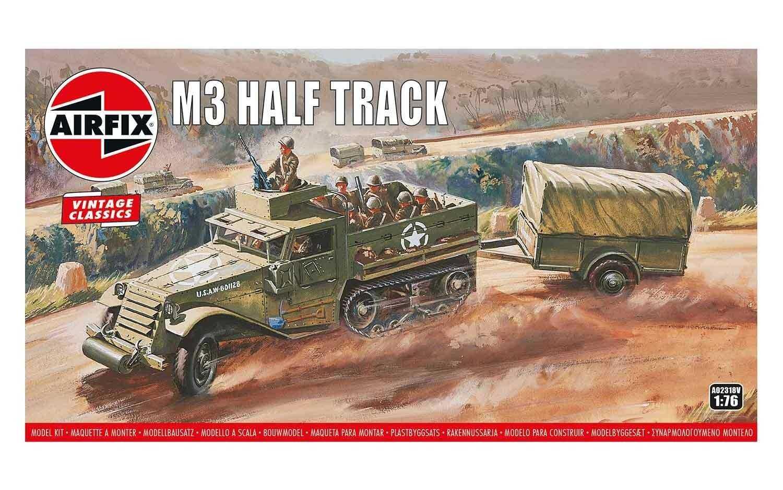 1:76 M3 Half Track & 1Ton Trailer (Classic Kit VINTAGE Military)